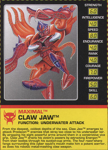Transformers Tech Spec: Claw Jaw