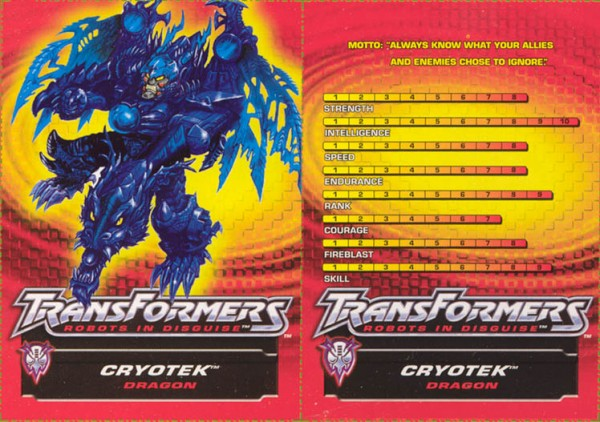 Transformers Tech Spec: Cryotek
