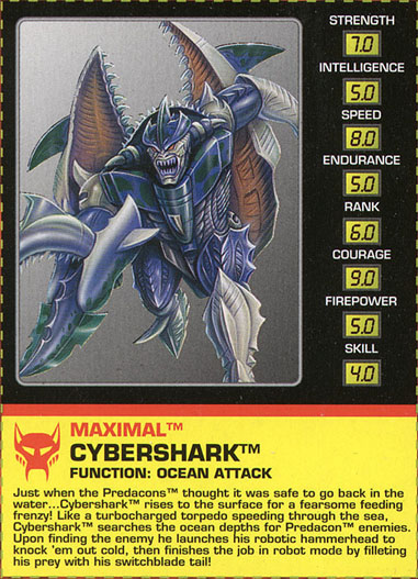 Transformers Tech Spec: Cybershark