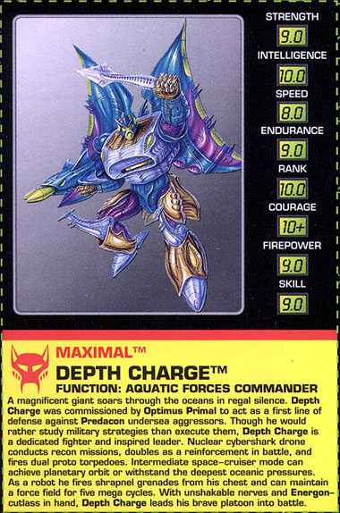 Transformers Tech Spec: Depth Charge