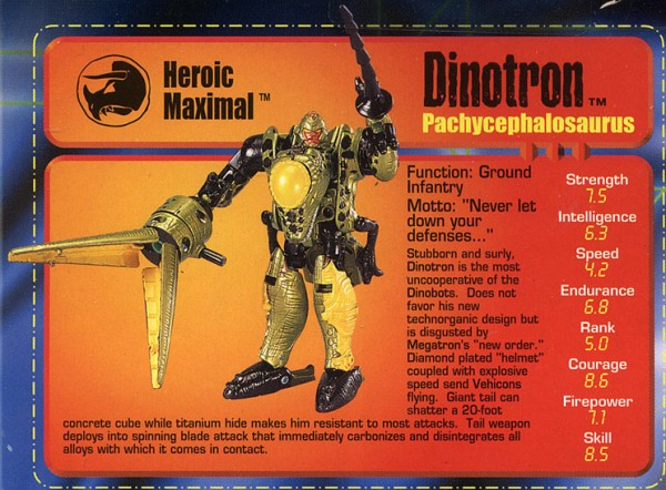 Transformers Tech Spec: Dinotron
