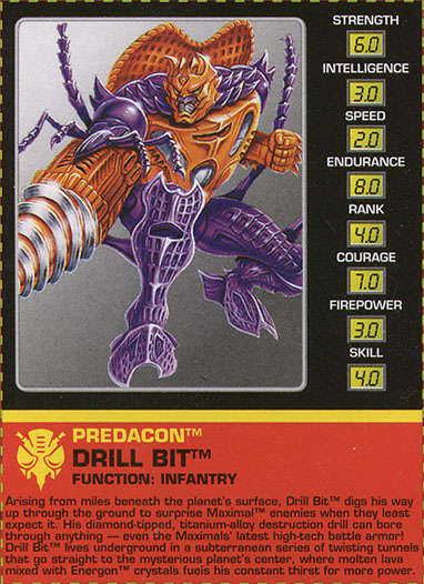 Transformers Tech Spec: Drill Bit