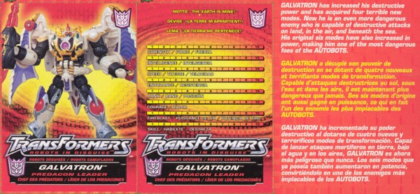 Transformers Tech Spec: Galvatron