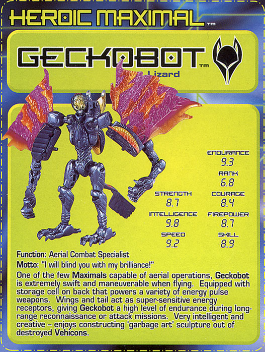 Transformers Tech Spec: Geckobot