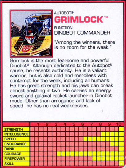 Transformers Tech Spec: Grimlock