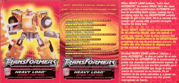 Transformers Tech Spec: Heavy Load
