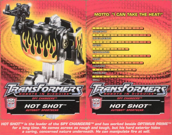 Transformers Tech Spec: Hot Shot