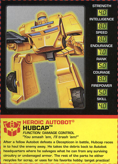 Transformers Tech Spec: Hubcap