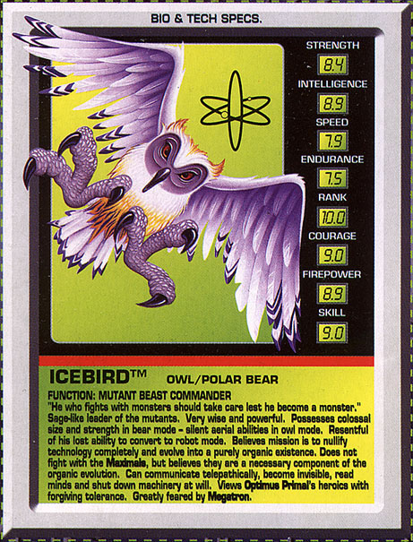 Transformers Tech Spec: Icebird