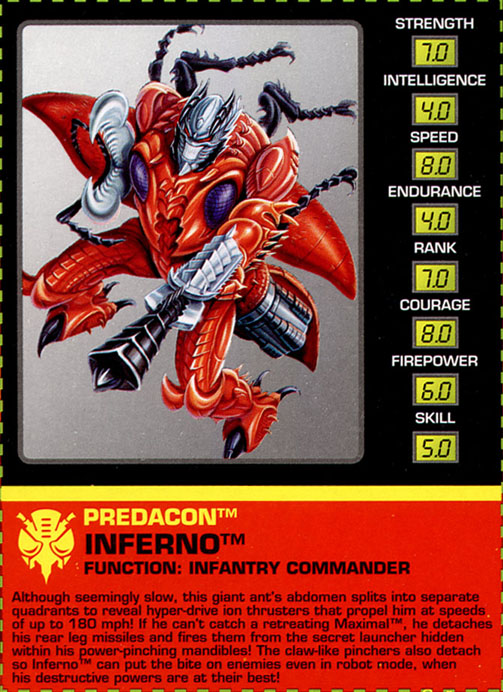 Transformers Tech Spec: Inferno