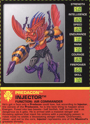Transformers Tech Spec: Injector