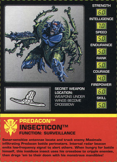 Transformers Tech Spec: Insecticon