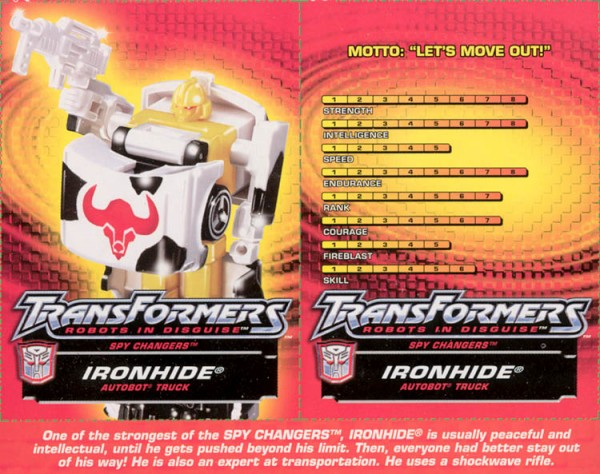 Transformers Tech Spec: Ironhide