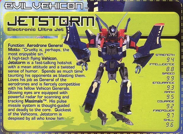 Transformers Tech Spec: Jetstorm