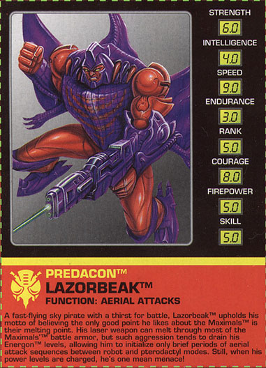 Transformers Tech Spec: Lazorbeak