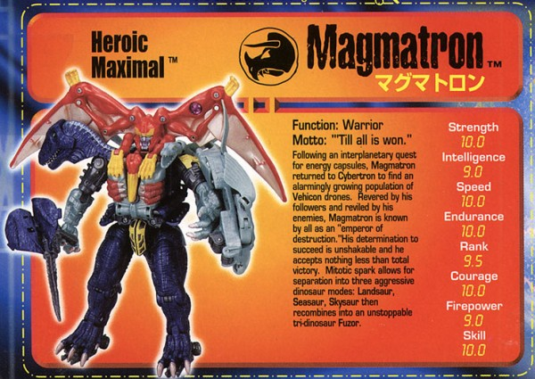 Transformers Tech Spec: Magmatron