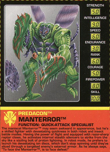 Transformers Tech Spec: Manterror