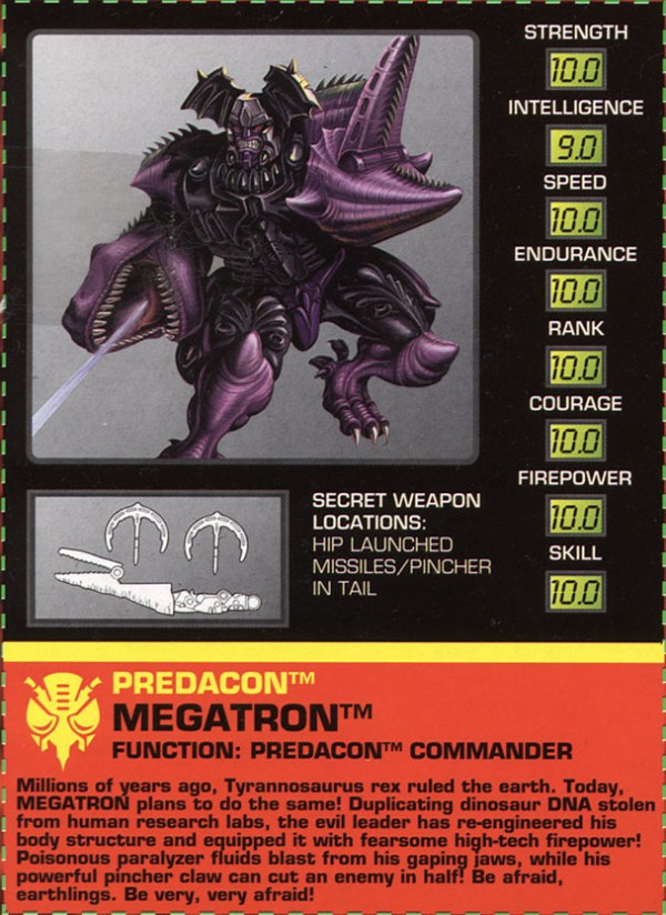 Transformers Tech Spec: Megatron