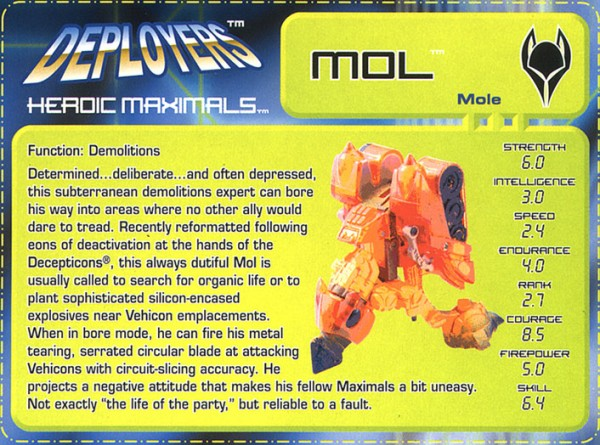 Transformers Tech Spec: Mol