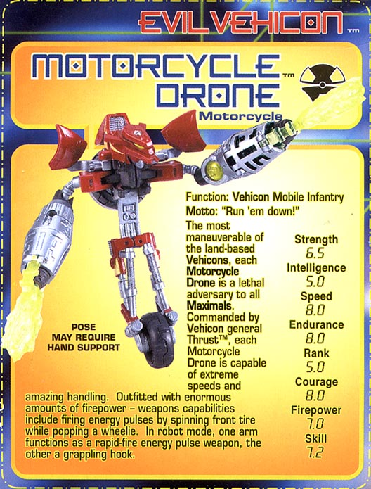 Transformers Tech Spec: Motorcycle Drone