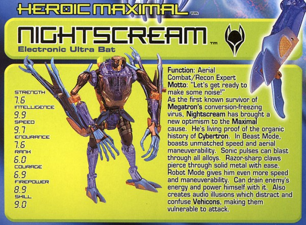 Transformers Tech Spec: Nightscream