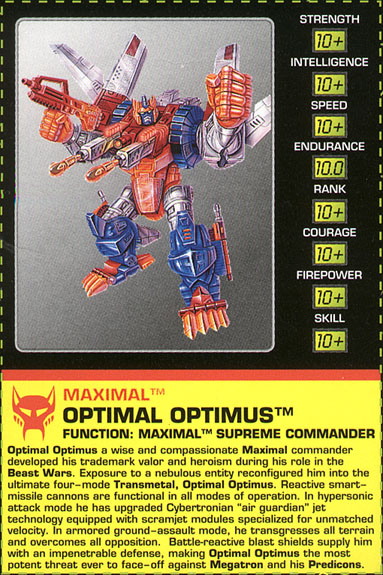 Transformers Tech Spec: Optimal Optimus