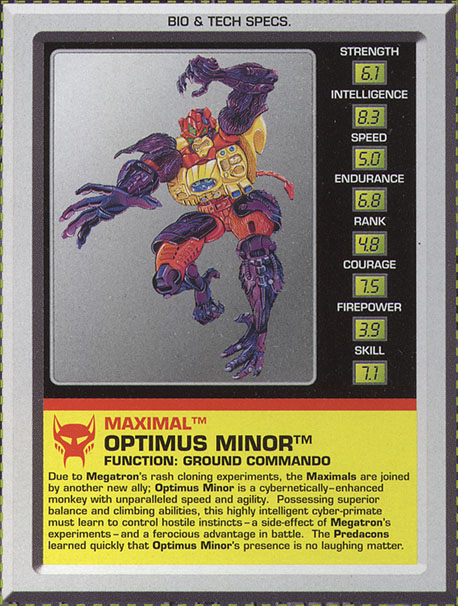 Transformers Tech Spec: Optimus Minor