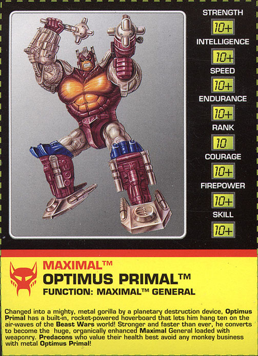 Transformers Tech Spec: Optimus Primal