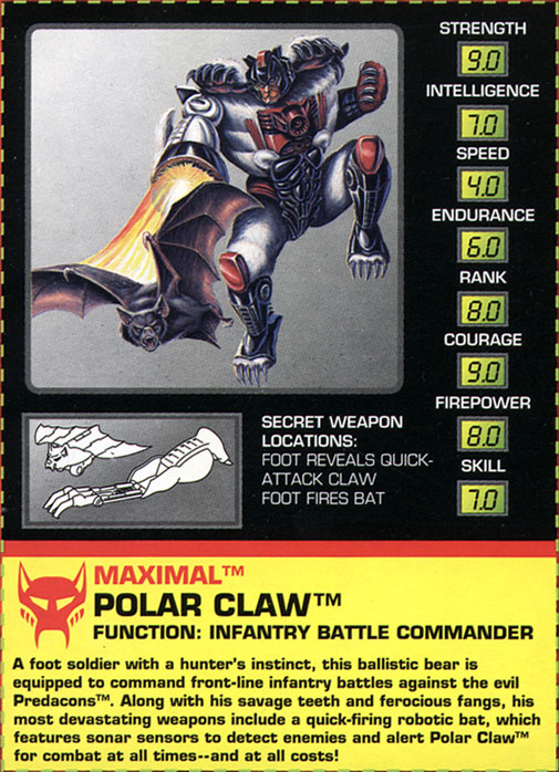 Transformers Tech Spec: Polar Claw