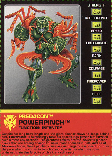 Transformers Tech Spec: Powerpinch