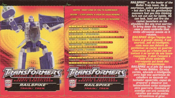 Transformers Tech Spec: Railspike