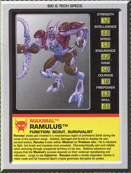 Transformers Tech Spec: Ramulus