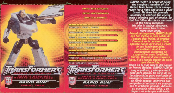 Transformers Tech Spec: Rapid Run