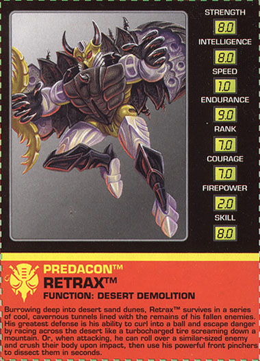 Transformers Tech Spec: Retrax