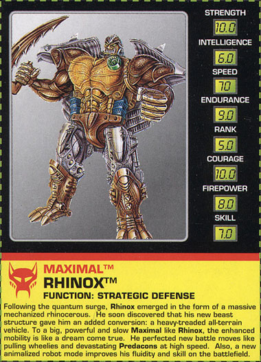 Transformers Tech Spec: Rhinox