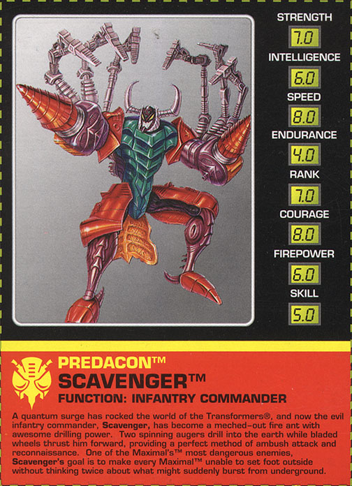 Transformers Tech Spec: Scavenger