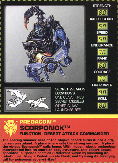 Transformers Tech Spec: Scorponok