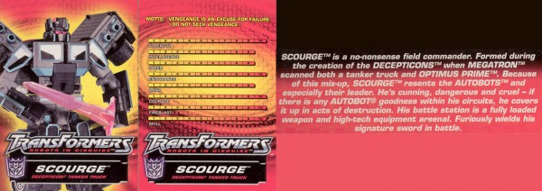 Transformers Tech Spec: Scourge