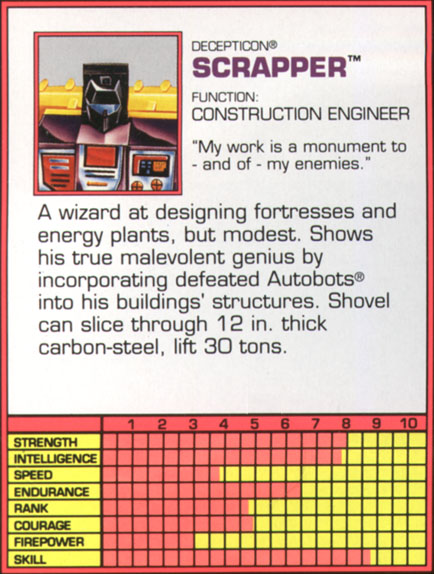 Transformers Tech Spec: Scrapper