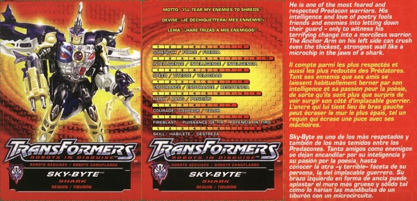 Transformers Tech Spec: Sky-Byte