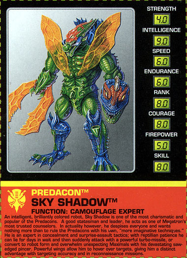 Transformers Tech Spec: Sky Shadow