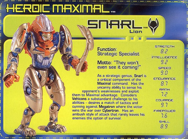 Transformers Tech Spec: Snarl