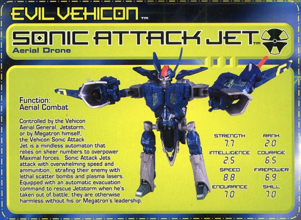 Transformers Tech Spec: Sonic Attack Jet