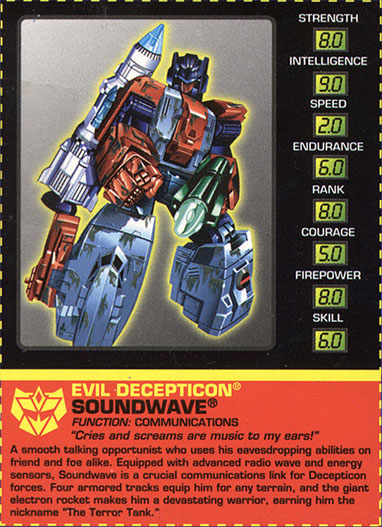 Transformers Tech Spec: Soundwave