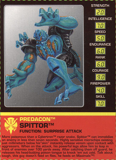Transformers Tech Spec: Spittor