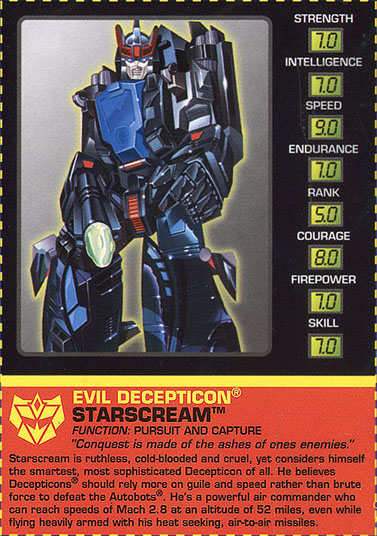 Transformers Tech Spec: Starscream