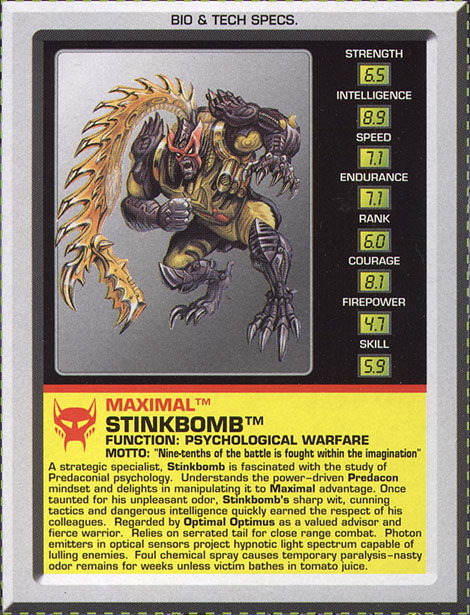 Transformers Tech Spec: Stinkbomb