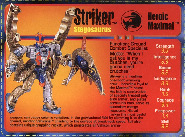 Transformers Tech Spec: Striker
