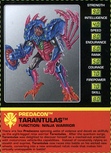 Transformers Tech Spec: Tarantulas