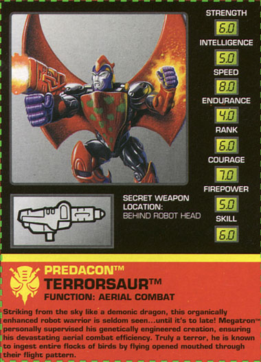 Transformers Tech Spec: Terrorsaur